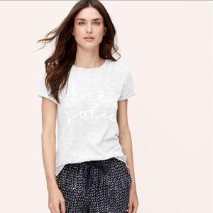 [LOFT] Ann Taylor Tres Jolie T Shirt Tee Size XL